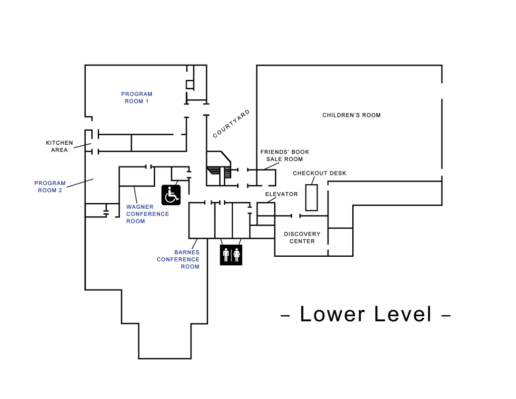 Simsbury Public Library Map: Upper Level